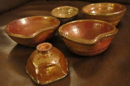 5 Ceramic Bowls by Paul D. Goodman