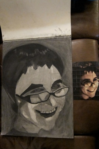 Charcoal Portrait of Jessica by Paul D. Goodman