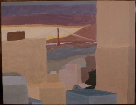 Paul D. Goodman San Francisco City Scape oil painting 2014