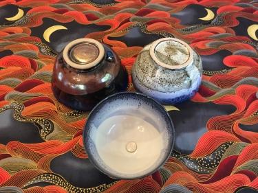 on Red - 3 ceramic bowls Paul D. Goodman August 2016