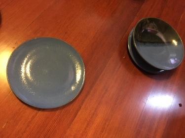 Paul ceramic bowl and plate 23 May 2016