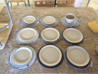 Paul bowl and plates July 2016