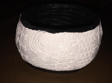 Paul carved ceramic bowl 2009