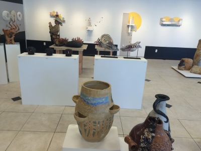 Paul ceramic pot at California Conference for the Advancement of Ceramic Art, CCACA Davis 30 April 2016