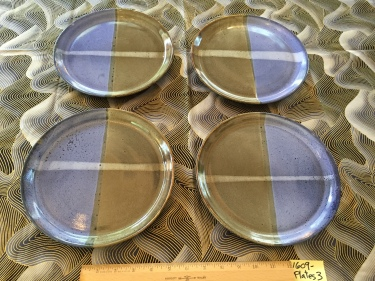 4 ceramic plates Paul D. Goodman September 2016