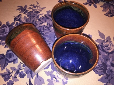 3 ceramic cups by Paul D. Goodman, November 2016