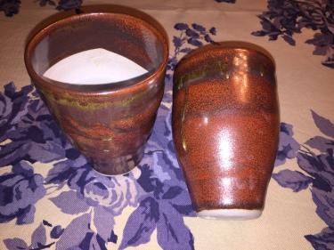 2 ceramic cups by Paul D. Goodman, November 2016