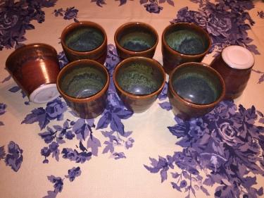 8 ceramic cups by Paul D. Goodman, November 2016