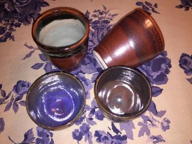 4 ceramic cups by Paul D. Goodman, November 2016