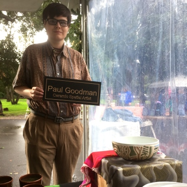 Paul D. Goodman at Peninsula School Craft Fair, 20 Nov 2016
