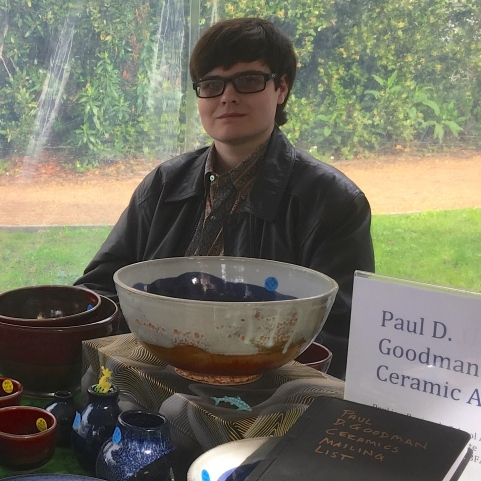 Paul D. Goodman at Peninsula School Craft Fair, 20 Nov 2016