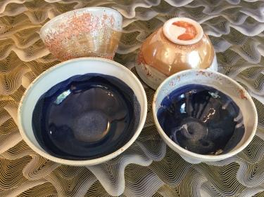 4 ceramic bowls by Paul D. Goodman, October 2016
