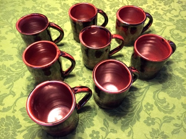 8 ceramic cups with handles by Paul D. Goodman October 2016