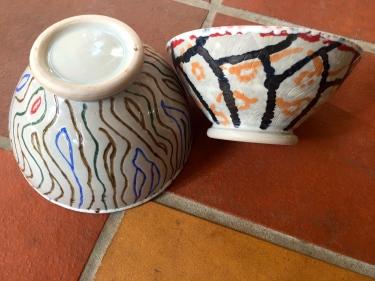 2 carved ceramic bowls by Paul D. Goodman, Dec 2016