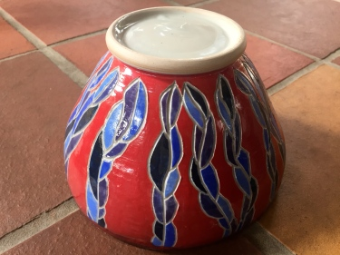 carved ceramic bowl by Paul D. Goodman, Dec 2016