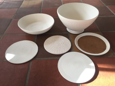 Paul D. Goodman bisqueware bowls and plates 20 Dec 2016