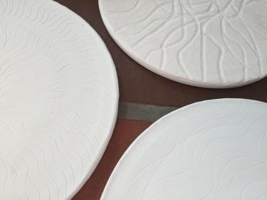 Paul D. Goodman bisqueware plates 20 Dec 2016