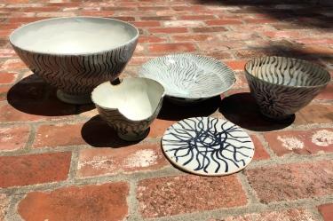 Paul D. Goodman ceramics, 2 Aug 2017