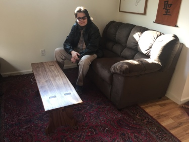 Paul D. Goodman walnut bench 13 Dec 2017