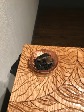 Fire - Ash tree ash with a flint