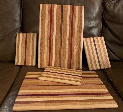 Paul D. Goodman cutting boards, Dec 2019