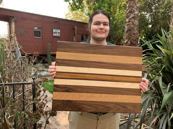 Paul D Goodman hardwood custom cutting board, 7 Oct 2020