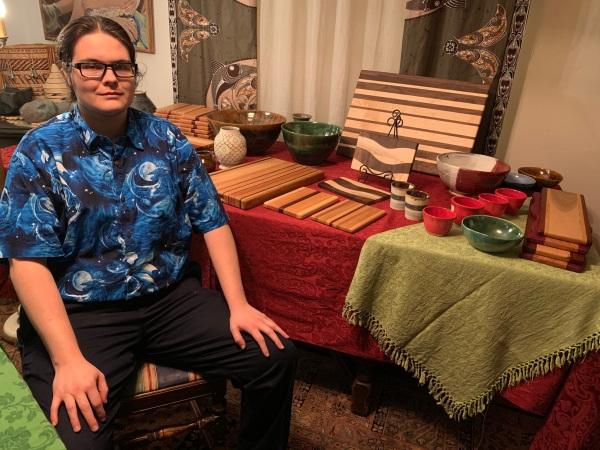 Paul D Goodman Art at Peninsula School Craft Fair, Dec 2020