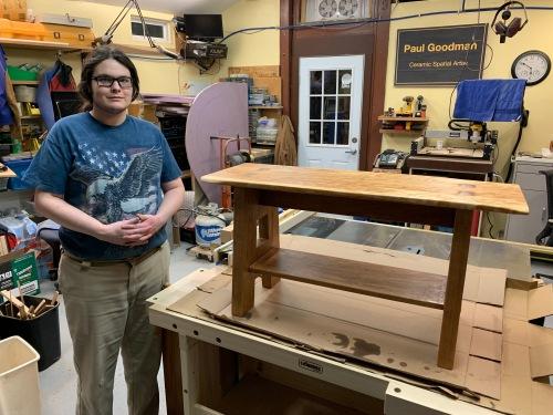 Paul D Goodman Cherry Arts & Crafts Bench, 7 March 2021